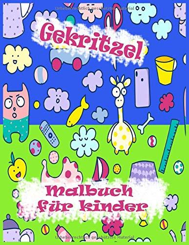 Preisvergleich Produktbild Gekritzel Malbuch für kinder: Nett und Playful Patterns Malbuch für Kinder im Alter 6-8,  8-12 / 50 Entzückende Designs: Vogel,  Geburtstag,  Liebe,  Fisch,  Puzzle,  Papagei