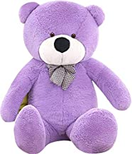 WOWMAX 4 Foot Purple Giant Cuddly Plush Stuffed Animals Teddy Bear Toy Doll 47