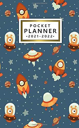 2021-2022 Pocket Planner: 24 Month Calendar Organizer Agenda with Monthly Vision Boards...