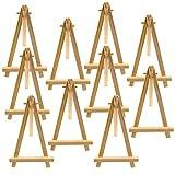 Waycreat 10pièces Mini Chevalet en bois Triangle support d'affichage support de table de mariage pour dessus de table Art Craft–9x 16cm