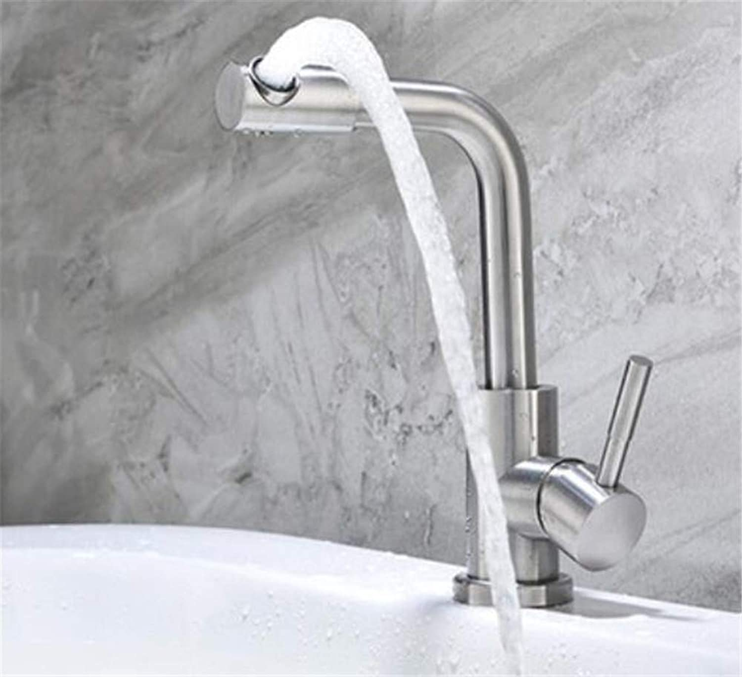 Oudan 304 Stainless Steel Pull Vegetables Basin Faucet Hot and Cold Faucet Pull redating Tank (color   -, Size   -)