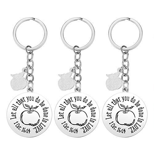 Teacher Gifts for Women - 3 Pack Teacher Keychain, Teacher Appreciation Gift, Thank You Gifts for Teacher, Christmas Valentine's Day Gifts for Teacher Photo #3