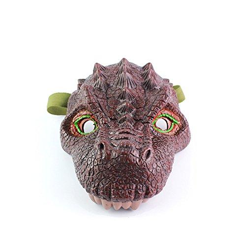 FairOnly Simulation Dinosaurier Maske Modell Halloween lustig und Streich Spielzeug Tyrannosaurus Rex Triceratops Tyrannosaurus mask