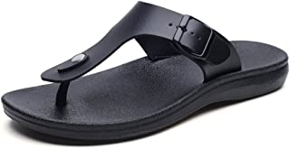 Sumuzhe Cool and Comfortable Men's Thong Classic Flip Flops Beach Sandals Slipper (Color : Black, Size : 6.5 UK)