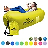 MaxIT Inflatable Hammock Sofa   Pool Floating Air Lounger Bed for Adults or Kids, Perfect for Tanning or Relaxing in The Sun   Easy to Inflate and Puncture Resistant (Kaki)