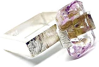 Spettacolare anello quadrato con preziosa Kuncite rosa di 14 mm x 10 mm e 8,42 carati. Anello.