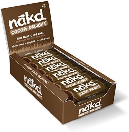 Nakd Berry Delight Natural Fruit & Nut Bars - Vegan - Gluten Free - Healthy Snack, 35 g (Pack of 18)