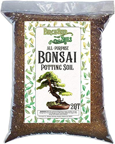 Bonsai Soil 2 Quart Premium Fast Draining Organic All Purpose Potting Mix for use with All Varieties of Bonsai Trees