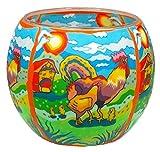 Himmlische Düfte Geschenkartikel GmbH Rooster Windlicht, Glas, bunt, 11x11x9 cm