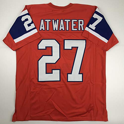 Unsigned Steve Atwater Denver Orange Throwback Custom Stitched Football Jersey Size XL New No Brands/Logos