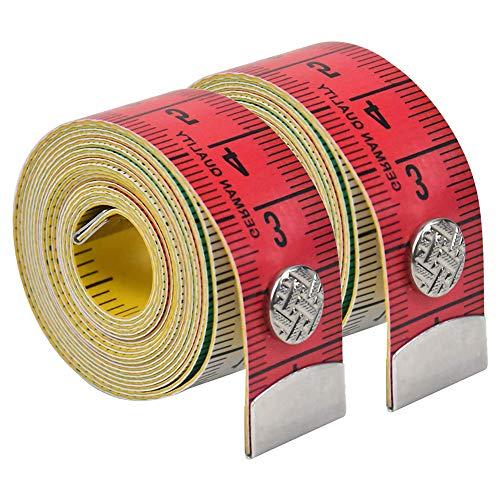 Pineocus Cinta métrica de 2 piezas, práctica regla de medición, fácil de llevar, para medir la circunferencia del pecho y la cintura, 150 cm