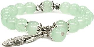 Natural Gemstone Healing Crystals Men Women 8mm Beaded Couples Stretch Bracelets