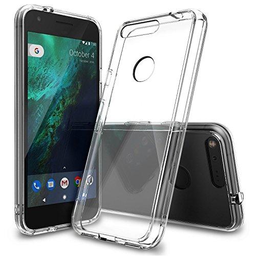 Ringke Google Pixel XL Hülle, Fusion kristallklarer PC TPU Dämpfer (Fall geschützt/Schock Absorbtions-Technologie) für das Google Pixel LX - Kristallklar