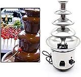 Berkalash Fuente de chocolate profesional, 170 W, 4 niveles, acero inoxidable, con caracol de extracción apto para alimentos, para postres y postres exclusivos