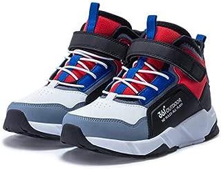 HK Sports Running Shoes, Children's Boys' Cotton Shoes, High-top Winter Plus Velvet Leather Warm Sneakers, Tide Children's Shoes