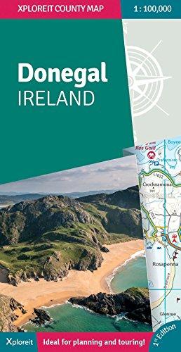Donegal Ireland 2018: Xploreit County Map (Xploreit County Series)