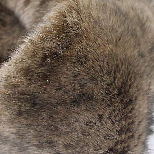Tela De Piel De Zorro Sintética De Lujo Marrón Negro Pila Larga para Manualidades,Tela Peluda Peluda Suave Y Gruesa para Disfraz Abrigo Alfombra Decoración Chaqueta Cosplay 170x50cm
