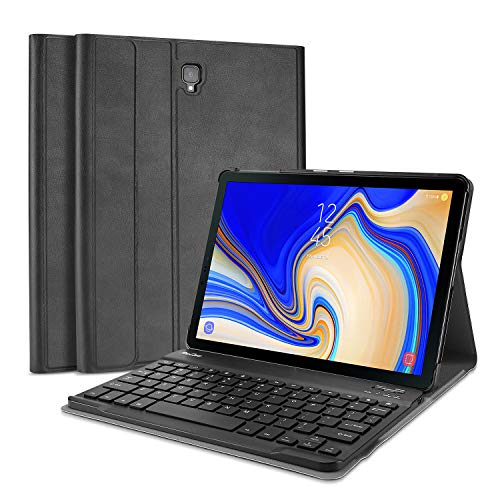 ProCase Samsung Galaxy Tab A 10.5 Keyboard Case (SM-T590 / T595 / T597), Slim Lightweight Stand Cover with Magnetically Detachable Wireless Keyboard, for Galaxy Tab A 10.5 (2018 release) -Black