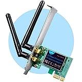 Cudy WE300 300 Mbit/s PCIe scheda WLAN per PC, adattatore WLAN PCIe, 2 antenne...