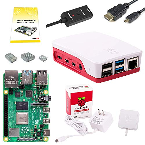 CanaKit Raspberry Pi 4 Basic Starter Kit with Official Case (2GB RAM)