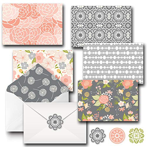 20 Pack 4x6 All Occasion Assorted Floral Blank Note Cards Greeting Card Bulk Box Set with Envelopes and Seal Stickers, Envelopes Stationary Boxed Set for Personalized Greetings