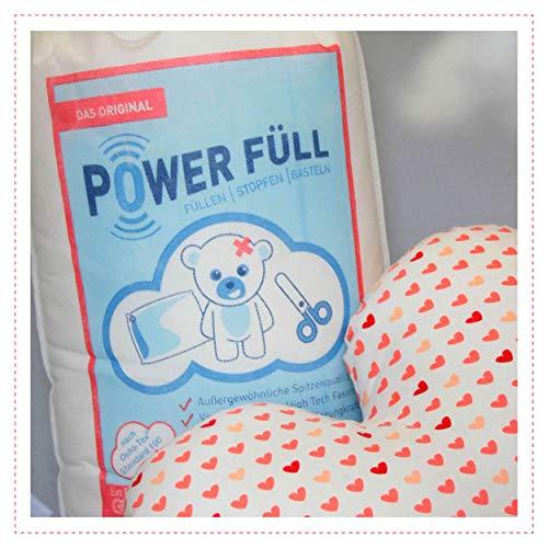 Füllwatte Power Füll 1000g Ökotex antiallergisch waschbar 95°C hochflauschig Kissenfüllung Bastelwatte Füllmaterial Stopfmaterial