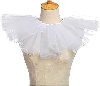Women' Vintage Mesh Neck Ruff Ruffle Collar Wedding Halloween Costumes Accessories