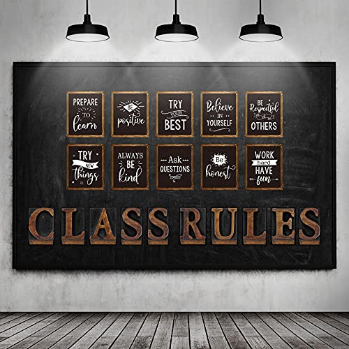 20 Pieces Class Rules Posters Motivational Quote Wall Posters Class Inspirational Bulletin Board Decors Classroom Expectations Poster Chic Classroom Rule Decoration for School, Party Supplies