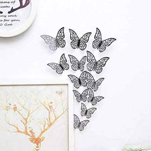 Party Paper Decorations 12 Pcs/Set 3D Wall Stickers Hollow Butterfly for Kids Rooms Home Wall Decor DIY Mariposas Fridge Stickers Room Decoration
