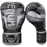 Venum Elite Boxing Gloves - Black/Dark camo - 12 Oz
