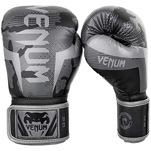 Venum Elite Boxing Gloves - Black/Dark camo - 8 Oz