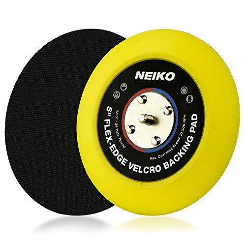 Neiko 30266A Flexible Edge Hook and Loop PU Backing Pad for DA Sander Polisher Buffer | 5-Inch, 10,000 RPM, 5/16