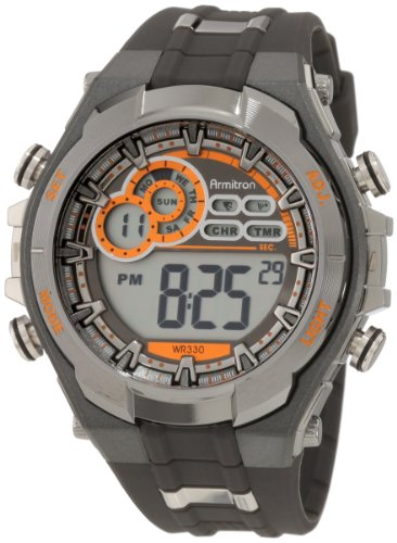 Armitron Sport Men's 408188GMG Digital Watch