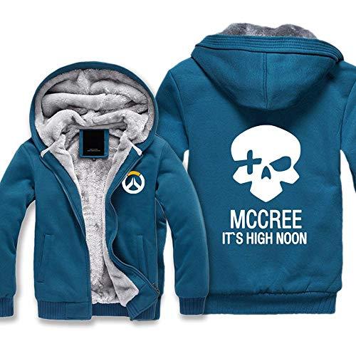 BINGFENG Herren Hoodies Jacke -Overwatch D.Va 3D gedruckt Hoodies Reißverschluss Jersey Casual Hoodie Outdoor Sweatshirt C-XXL