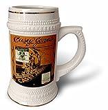 3dRose Casey Jones The Brave Steam Engine Locomotive-Stein Mug, 18oz (STN_170489_1), 22oz, White