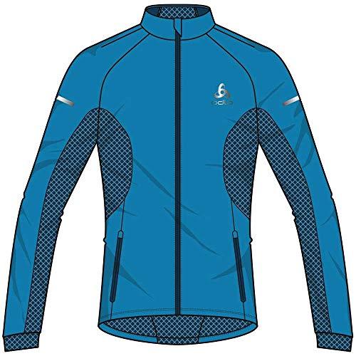 Odlo Herren Jacket Aeolus WARM Jacke, Blue Jewel - Poseidon, S