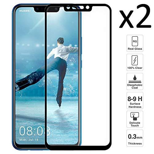 iGlobalmarket [Pack Ahorro - 2 Unidades] Protector de Pantalla 3D Huawei P Smart Plus/Nova 3, Cristal Templado, sin Burbujas, Alta Definicion, 9H Dureza, Resistente a Arañazos