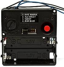 Music Chime Box 001 Wall Clock Mechanism Clock Parts Melody Box with Horn DIY Clock Kits (Black)