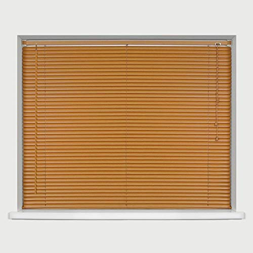 Ruby Deals PVC Window Venetian Blind Blinds Easy Fit Curtains Trimmable Fittings Windows Treatment Shutters Twist Open Close (Grey-PVC, 45cm wide (17.7'') x 150cm)