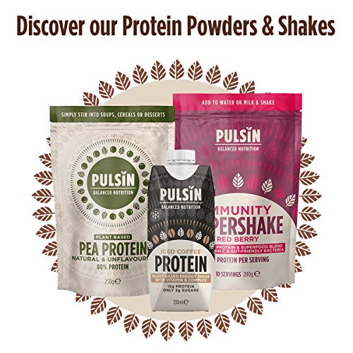 Pulsin Natural Flavoured Plant Based Vegan Free From Chocolate & Pea Protein Powder 1 kg