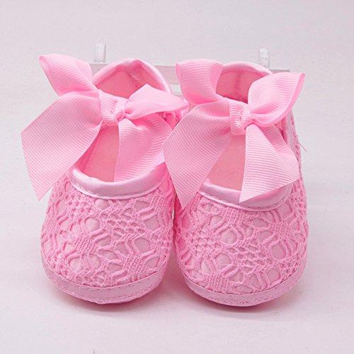 Erste Schritte Schuhe Kind 11, Baby Mädchen Schuhe weiche rutschfeste Sohle Bowknot Kinderschuhe Kinderschuhe 0-3 Monate Günstige Turnschuhe Stiefeletten für Kindertag