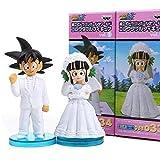Personaje Animado Modelo De Siete Bolas De Dragón Teatro Son Goku Y Chichi Boda Figura De Acción De La Estatua Decoración 17CM Regalo Halloween A