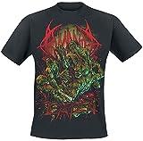 Photo de Bloodbath Eaten Homme T-Shirt Manches Courtes Noir M, 100% Coton, Regular/Coupe Standard