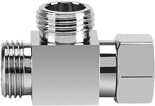Douchekop omschakelventiel, chroom messing 3-weg omkeerer 1/2 inch T-vormige adapter metalen douche-armadapter voor douche...
