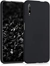 kwmobile TPU Silicone Case Compatible with Huawei Honor 9X - Soft Flexible Protective Phone Cover - Black Matte
