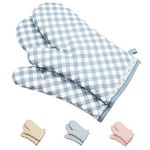 Gants de cuisine en silicone antidérapants N / A - En silicone et coton - Résistants à la chaleur - Antidérapants - Pour cuisson, barbecue.