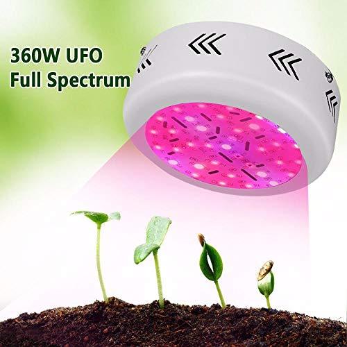 Plantenlicht met volspectrum, plantenlicht, groeilamp, 360 W, 36 LED's, aanbouwlicht, spiegellamp, dubbele chip, lamp voor planten, hydrocultuur, hanglamp
