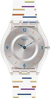 Swatch Women's Digital Quartz Watch with Plastic Strap SFE108