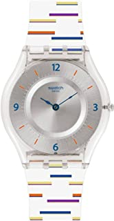 Swatch Women's Digital Quartz Watch with Plastic Strap SFE108