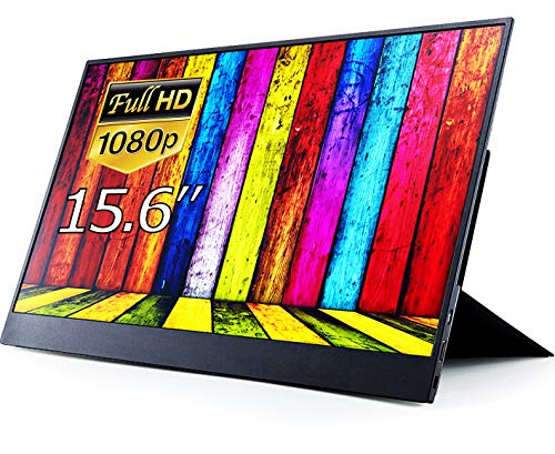 モバイルモニター モバイルディスプレイ cocopar 15.6インチ スイッチ用モニター 非光沢IPSパネル 薄い 軽量 1920x1080FHD USB Tpye-C/mini HDMI/カバー付 ZB-156